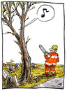 Cartoon: Springtime (small) by GB tagged frühling,spring,nature,baum,tree,kettensäge,vogel,bird,chainsaw,jahreszeiten