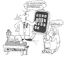 Cartoon: iPhone ist in (small) by Retlaw tagged fingerkuppenschutz