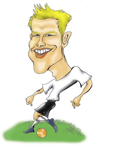 Cartoon: David Beckham (medium) by guillelorentzen tagged david,beckham,cartoon