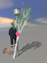 Cartoon: Farewell (small) by thalasso tagged maypole,maibaum,farewell,abschied,laterne,herz,heart,street,light