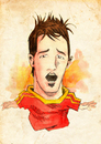 Cartoon: David Villa (small) by Thomas Berthelon tagged berthelon,thomas,worldcup,world,cup,2010,mondial,football,villa