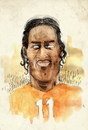 Cartoon: Didier Drogba (small) by Thomas Berthelon tagged berthelon,thomas,worldcup,world,cup,2010,mondial,football,drogba