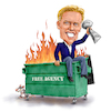 Cartoon: Elway Dumpster Fire (small) by karlwimer tagged john,elway,denver,broncos,american,football,nfl,superbowl,dumpster,fire
