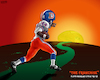 Cartoon: Floyd Little Into the Sunset (small) by karlwimer tagged denver,broncos,nfl,american,football,floyd,little,memorial,sunset,cartoon,sports