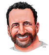 Cartoon: George Stein caricature (small) by karlwimer tagged caricature,face,illustration