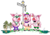 Cartoon: Mardi Gras Three Little Pigs (small) by karlwimer tagged mardi,gras,three,little,pigs,karl,wimer,new,orleans