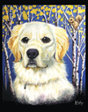 Cartoon: Mia in the Aspens (small) by karlwimer tagged dog,golden,retriever,pet,aspens,outdoors,squirrel