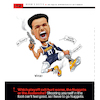 Cartoon: Nuggets Shoot Own Feet (small) by karlwimer tagged basketball,denver,nuggets,jamal,murray,nba,playoffs,shoot,foot