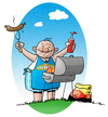 Cartoon: King of Barbecue (small) by droigks tagged grill,grillen,droigks,grillmeister,master,of,barbecue,bbc,grillsaison,steak,bratwurst,camping
