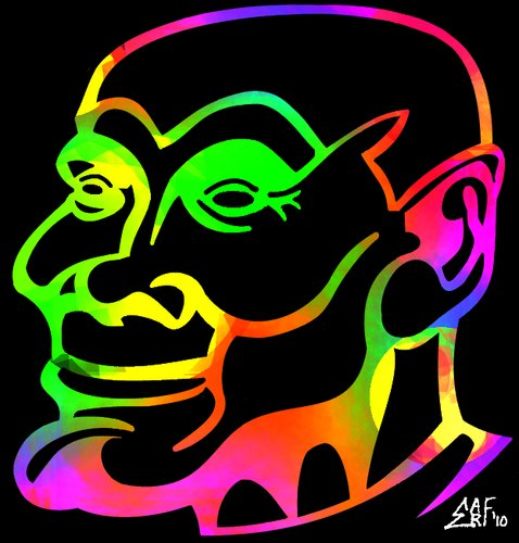 Cartoon: Spectre of Belafonte (medium) by Tzod Earf tagged caricature,harry,belafonte