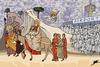 Cartoon: Flight from Egypt (small) by Ballner tagged egypt,revolution,giotto