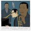 Cartoon: kind of (small) by marco petrella tagged jazz,milesdavis,billevans,kindofblue