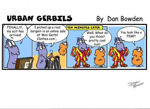 Cartoon: URBAN GERBILS. Suit (medium) by Danno tagged urban,gerbils,funny,cartoon,comic,strip,weekly,newspaper,published,humor