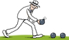 Cartoon: The Bowls Bomber (small) by Ellis Nadler tagged bowls,bomb,bomber,game,sport,lawn,panama,hat,sinister