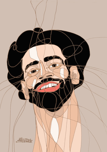 Cartoon: Mohamed Salah (medium) by omar seddek mostafa tagged mohamed,salah