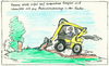 Cartoon: Photovolteich (small) by timfuzius tagged erneuerbare,energien,energie,solar,photovoltaik,sonnenenergie,sonne,teich,garten,bagger