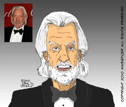 Cartoon: Donald Sutherland- Actor (medium) by Mike Spicer tagged mike,spicer,caricature,cartoon,cartoonist,illustrator,avatar,colur,profile,pic