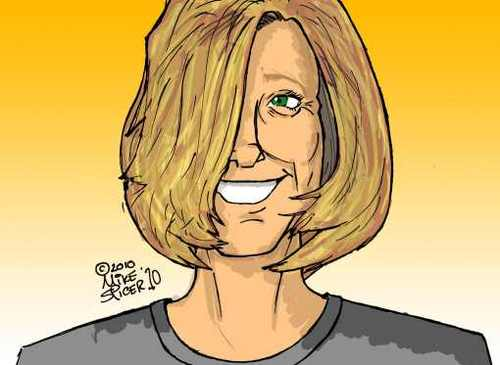 Cartoon: Facebook avatar- Tracey (medium) by Mike Spicer tagged mike,spicer,facebook,avatar,colour,cartoon,caricature