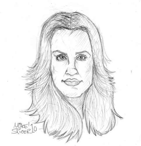 Cartoon: Kaley Cuoco Actor (medium) by Mike Spicer tagged mike,spicer,pencil,caricature,avatar,portrait