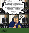 Cartoon: Bush book signing (small) by Mike Spicer tagged mikespicer,cartoon,political,decisionpoits,bush,georgebush,book,crayon,humour,humor