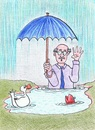 Cartoon: Dr Foster (small) by Kerina Strevens tagged doctor,foster,puddle,middle,water,wet,nursery,rhyme
