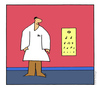 Cartoon: Optometrist (small) by ringer tagged eyes optometrist music