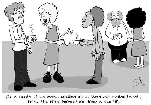 Cartoon: Permaculture  vs Perm Culture (medium) by Spen tagged perm,permaculture,curly