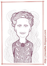 Cartoon: Agatha Christie (small) by Freelah tagged agatha,christie,novels,romances,murder,on,the,orient,express,spiders,web