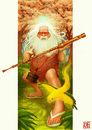 Cartoon: Bo Staff (small) by Freelah tagged hermeto pascoal brazilian music