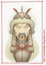 Cartoon: Gengis Khan (small) by Freelah tagged gengis,khan