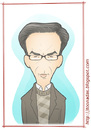Cartoon: Ismail Kadare (small) by Freelah tagged ismail,kadare