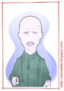 Cartoon: Ralph Fiennes - as Voldermort (small) by Freelah tagged ralph,fiennes,voldermort,harry,potter,deathly,hallows