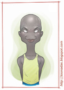 Cartoon: Robert Kipkoech Cheruiyot (small) by Freelah tagged robert,kipkoech,cheruiyot,kenyan,marathon