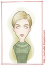 Cartoon: Twiggy (small) by Freelah tagged twiggy