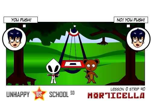 Cartoon: US lesson 0 Strip 40 (medium) by morticella tagged manga,morticella,school,unhappy,uslesson0