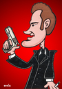 Cartoon: Quentin Tarantino (small) by Ca11an tagged pulp fiction killing zoe dusk till dawn