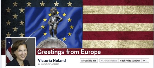 Cartoon: Greetings from Europe (medium) by Paparazzi001 tagged nuland,victoria