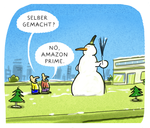 Cartoon: ... (medium) by markus-grolik tagged weihnachten,konsum,mas,winter,santa,claus,jingle,bells,nikolaus,heilig,klimawandel,online,business,amazon,abend,geschenk,schneemann,weihnachten,konsum,mas,winter,santa,claus,jingle,bells,nikolaus,heilig,klimawandel,online,business,amazon,abend,geschenk,schneemann
