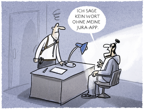 Cartoon: ... (medium) by markus-grolik tagged anwalt,tatort,polizei,rechtsanwalt,rechtsstaat,rechtsbeistand,anklage,verhör,app,handy,smartphone,samsung,apple,huawei,anwalt,tatort,polizei,rechtsanwalt,rechtsstaat,rechtsbeistand,anklage,verhör,app,handy,smartphone,samsung,apple,huawei