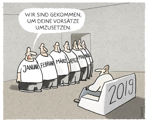 Cartoon: ..business as usual... (medium) by markus-grolik tagged 2019,vorsätze,todo,to,do,neues,jahr,januar,sofa,2019,vorsätze,todo,to,do,neues,jahr,januar,sofa