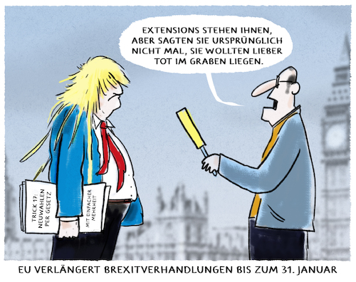 Cartoon: ...Cliffhanger... (medium) by markus-grolik tagged premierminister,no,deal,backstop,brexit,verlaengerung,london,johnson,boris,europa,zollunion,bruessel,eu,gb,verhandlung,extension,grossbritannien,nordirland,england,premierminister,no,deal,backstop,brexit,verlaengerung,london,johnson,boris,europa,zollunion,bruessel,eu,gb,verhandlung,extension,grossbritannien,nordirland,england
