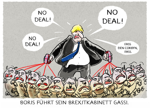 Cartoon: ...hardliner... (medium) by markus-grolik tagged boris,johnson,kabinett,brexit,london,europa,premierminister,eu,austritt,austrittsverhandlungen,england,bruessel,corbyn,minister,brexiteers,hardliner,ernennung,bluthunde,gegner,boris,johnson,kabinett,brexit,london,europa,premierminister,eu,austritt,austrittsverhandlungen,england,bruessel,corbyn,minister,brexiteers,hardliner,ernennung,bluthunde,gegner