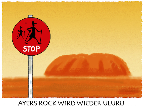 Cartoon: Meanwhile in Australien.. (medium) by markus-grolik tagged aborgine,aborigines,indigen,sydney,melbourne,touristen,natur,tourismus,naturheiligtum,uluru,ayers,rock,walking,climbing,climber,wanderer,wandern,touristennordic,walkingumwelt,religion,naturreligion,aborgine,aborigines,indigen,sydney,melbourne,touristen,natur,tourismus,naturheiligtum,uluru,ayers,rock,walking,climbing,climber,wanderer,wandern,touristennordic,walkingumwelt,religion,naturreligion