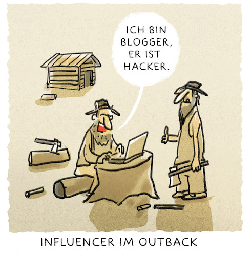 Cartoon: ..media-experts... (medium) by markus-grolik tagged influencer,outback,blogger,hacker,facebook,you,tube,internet,web,beruf,medien,followers,influencer,outback,blogger,hacker,facebook,you,tube,internet,web,beruf,medien,followers