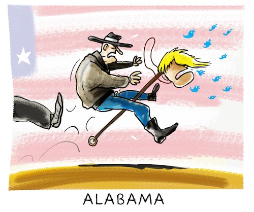 Cartoon: ...Roy Moore... (medium) by markus-grolik tagged roy,moore,usa,alabama,donald,trump,republikaner,senatoren,amerika,us,roy,moore,usa,alabama,donald,trump,republikaner,senatoren,amerika,us