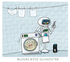 Cartoon: A.I. (small) by markus-grolik tagged alexa,amazon,künstliche,intelligenz,smart,house,automatisierung,haushalt,roboter,digitalisierung,usa,silikon,valley,google,apple,autonomgrolik