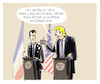 Cartoon: ...almost best friends (small) by markus-grolik tagged macron,trump,iran,atom,atomabkommen,usa,europa,syrien,amerika