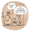 Cartoon: ..an der social Wursttheke (small) by markus-grolik tagged whatsapp,posten,posting,mailen,filterblase,instagram,twittern,tweed,facebook,internet,sprache,online,chatten,einkauf,shoppen,like,twitter,social,network