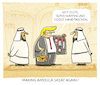 Cartoon: ...Business... (small) by markus-grolik tagged donald,trump,suadi,waffen,ausland,is,krisengebiete,krieg,ivanka,mode,naher,osten