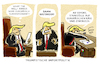 Cartoon: ...Donald... (small) by markus-grolik tagged strafzoll,airbus,usa,washington,donald,trump,handelskrieg,eu,brüssel,zinkblech